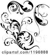 Clipart Of Black Flourish Design Elements Royalty Free Vector Illustration by dero