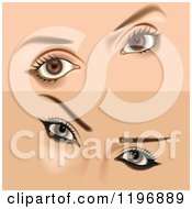 Clipart Of Female Eyes With Makeup Royalty Free Vector Illustration by dero