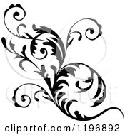 Clipart Of A Black Flourish Design Element 7 Royalty Free Vector Illustration