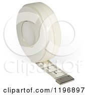 Clipart Of A 3d White Tape Measure Royalty Free Vector Illustration
