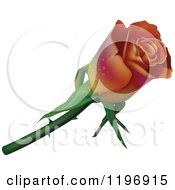 Clipart Of A Gradient Rose With Dew Royalty Free Vector Illustration by dero