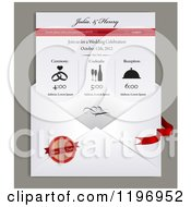 Clipart Of A Envelope And Electronic Wedding Invitation With Sample Text Royalty Free Vector Illustration by Eugene