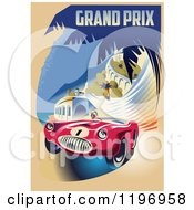 Retro Grand Prix Monaco Racing Poster