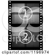 Clipart Of A Grungy Movie Counter Film Strip Royalty Free Vector Illustration