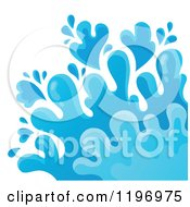 Cartoon Of A Blue Water Splash 2 Royalty Free Vector Clipart by visekart
