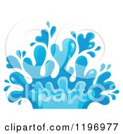 Cartoon Of A Blue Water Splash Royalty Free Vector Clipart