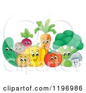 Group Of Happy Veggies