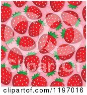 Seamless Strawberry Pattern Background