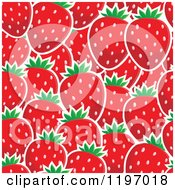 Cartoon Of A Seamless Red Strawberry Pattern Background Royalty Free Vector Clipart by visekart