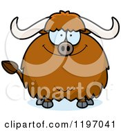 Cartoon Of A Happy Chubby Ox Royalty Free Vector Clipart