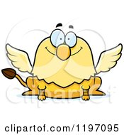 Cartoon Of A Happy Griffin Royalty Free Vector Clipart by Cory Thoman