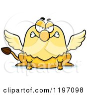 Cartoon Of A Mad Griffin Royalty Free Vector Clipart