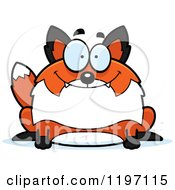 Cartoon Of A Happy Chubby Fox Royalty Free Vector Clipart by Cory Thoman