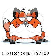 Cartoon Of A Drunk Chubby Fox Royalty Free Vector Clipart by Cory Thoman