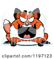 Cartoon Of An Evil Chubby Fox Royalty Free Vector Clipart by Cory Thoman