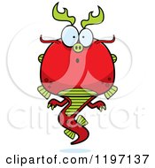 Cartoon Of A Surprised Chinese Dragon Royalty Free Vector Clipart by Cory Thoman