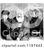 Vintage Black And White Old People Sitting