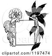 Vintage Black And White Sig With Flower Characters