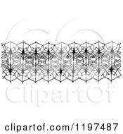 Clipart Of A Vintage Black And White Mosquito Net Border Royalty Free Vector Illustration