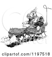 Clipart Of A Vintage Black And White Zebra Pulling A Hippo And Monkey In A Carriage Royalty Free Vector Illustration by Prawny Vintage
