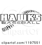 Clipart Of Warrior Softball Text Over Stitches Royalty Free Vector Illustration