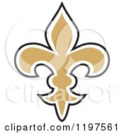 Black White And Golden Fleur De Lis