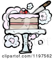 Cartoon Of A Layered Cake Royalty Free Vector Illustration by lineartestpilot