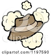 Cartoon Of A Mans Hat Royalty Free Vector Illustration