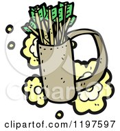Cartoon Of A Quiver Of Arrows Royalty Free Vector Illustration by lineartestpilot