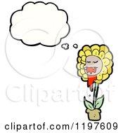 Cartoon Of A Carnivorous Flower Royalty Free Vector Illustration