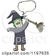 Cartoon Of A Witch Royalty Free Vector Illustration