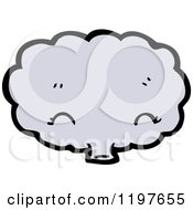 Cartoon Of A Bloud Blowing Royalty Free Vector Illustration by lineartestpilot