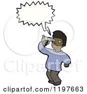 Cartoon Of A Man Commiting Suicide Royalty Free Vector Illustration by lineartestpilot