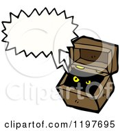 Cartoon Of An Open Box Speaking Royalty Free Vector Illustration
