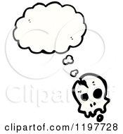 Poster, Art Print Of Skull Thinking