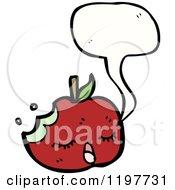 Cartoon Of A Half Eaten Apple Royalty Free Vector Illustration
