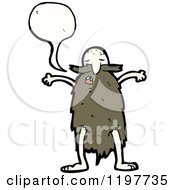 Cartoon Of An Old Man With A Long Beard Speaking Royalty Free Vector Illustration
