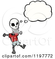 Poster, Art Print Of Skeleton Thinking