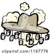 Cartoon Of A Latin American Hat Royalty Free Vector Illustration