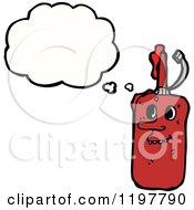 Cartoon Of A Glue Bottle Thinking Royalty Free Vector Illustration