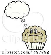 Cartoon Of A Muffin Royalty Free Vector Illustration by lineartestpilot