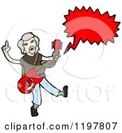 Cartoon Of A Rock Musician Speaking Royalty Free Vector Illustration