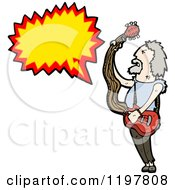 Cartoon Of A Rock Musician Speaking Royalty Free Vector Illustration by lineartestpilot