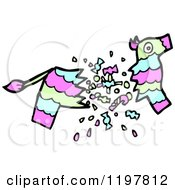 Cartoon Of A Broken Pinata Royalty Free Vector Illustration by lineartestpilot