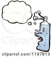 Cartoon Of An Aerosol Can Thinking Royalty Free Vector Illustration by lineartestpilot