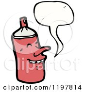 Cartoon Of An Aerosol Can Speaking Royalty Free Vector Illustration by lineartestpilot