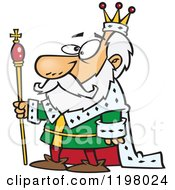 Cartoon Of A King Royalty Free Vector Clipart by toonaday