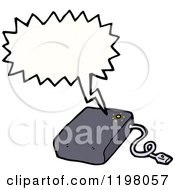 Cartoon Of A Computer Mouse Speaking Royalty Free Vector Illustration