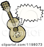 Cartoon Of A Guitar Playing Royalty Free Vector Illustration