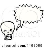 Poster, Art Print Of Skull Speaking